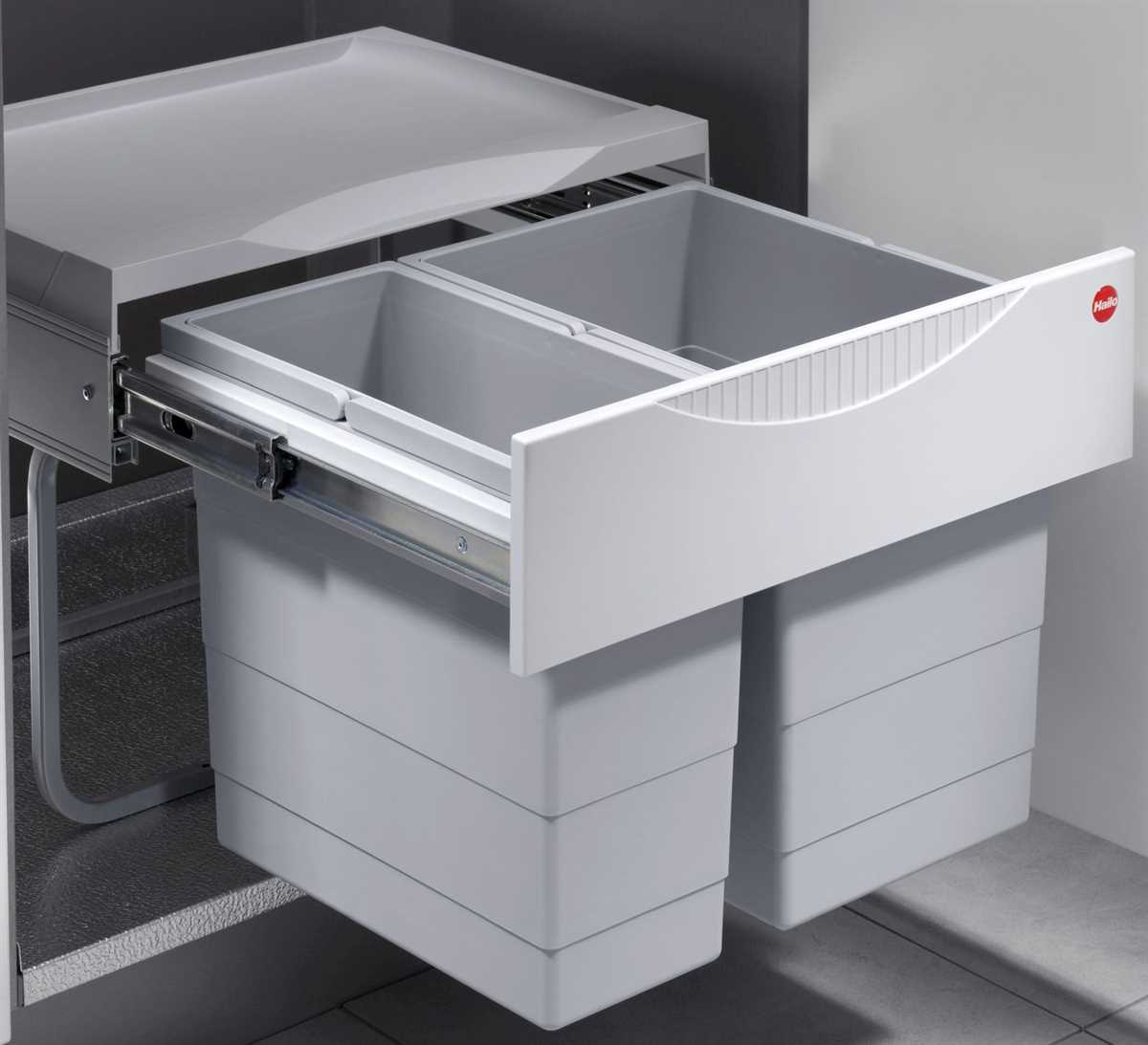 Full Size of Müllsystem Mlleimer Kche 30 L Hailo Tandem Abfalleimer Real Küche Wohnzimmer Müllsystem