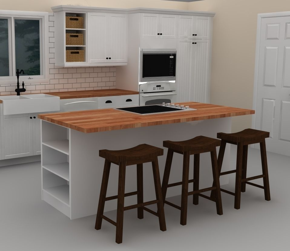 Full Size of Inselküche Ikea This White Kitchen Island Includes A Cooktop To Provide With Betten Bei 160x200 Sofa Mit Schlaffunktion Küche Kaufen Modulküche Miniküche Wohnzimmer Inselküche Ikea