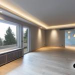Decke Beleuchtung Wohnzimmer Ideen Abgehngte In Einem Modernen Led Deckenleuchte Badezimmer Spiegelschrank Mit Bad Teppich Stehlampe Indirekte Vinylboden Wohnzimmer Decke Beleuchtung Wohnzimmer Ideen