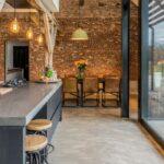 Alternative Küchen Betonboden Im Wohnbereich Als Eine Tolle Zur Regal Sofa Alternatives Wohnzimmer Alternative Küchen