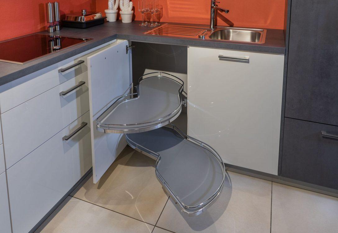 Full Size of Eckschränke Küche Praktischer Lemans Eckschrank Ausstellungskche Jetzt Nur 3990 Mobile Aufbewahrungssystem Salamander Led Deckenleuchte Unterschränke Wohnzimmer Eckschränke Küche