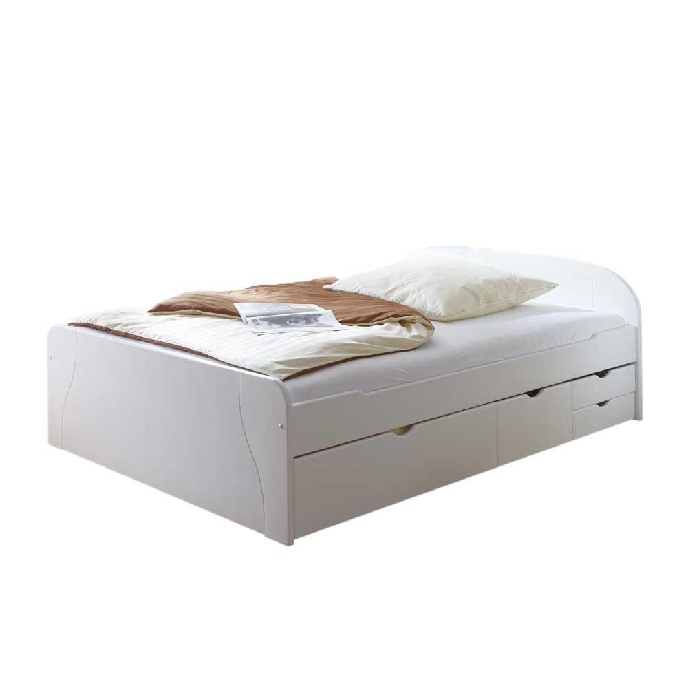 Full Size of Bett 100x200 Mit Schubladen Occitan In Wei Wohnende Ikea Sofa Schlaffunktion Küche Geräten Aus Paletten Kaufen Selber Zusammenstellen 120x190 Stauraum Wohnzimmer Bett 100x200 Mit Schubladen