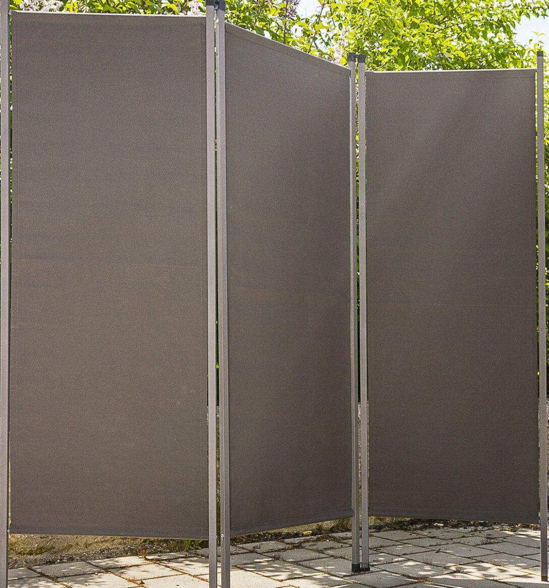Large Size of Outdoor Paravent Anthrazit Metall Stoff Sichtschutz Windschutz Küche Edelstahl Kaufen Garten Wohnzimmer Outdoor Paravent