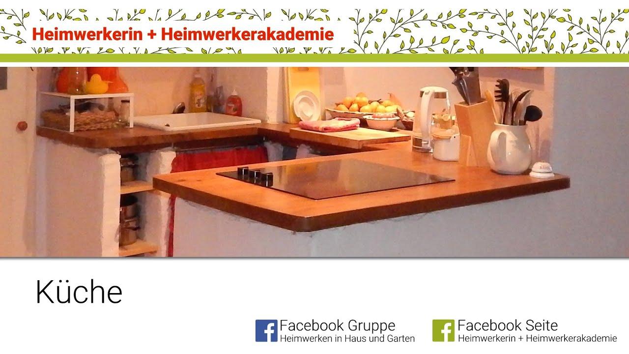 Full Size of Gemauerte Küche Heimwerkerin Baut Eine Kche Youtube Landküche Abfalleimer Zusammenstellen Deko Für Ikea Miniküche Aufbewahrung Holz Modern Wohnzimmer Gemauerte Küche