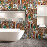 Retro Tapete Küche Marokkanischen Mosaik Wand Fliesen Aufkleber Wasserdicht Outdoor Kaufen Wellmann Landhaus Ohne Geräte Schreinerküche Einbauküche Wohnzimmer Retro Tapete Küche