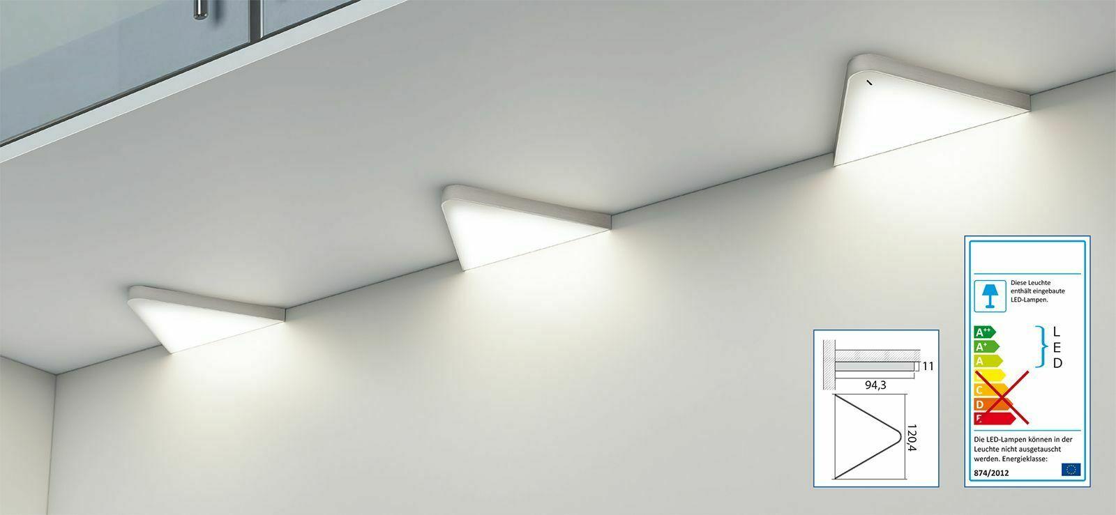 Full Size of Unterbauleuchten Küche Flchen Led Dreiecklampe Unterbauleuchte Kche 2x5 W Helligkeit Deckenleuchten Anthrazit Holzbrett Holz Weiß Ikea Kosten Betonoptik Wohnzimmer Unterbauleuchten Küche