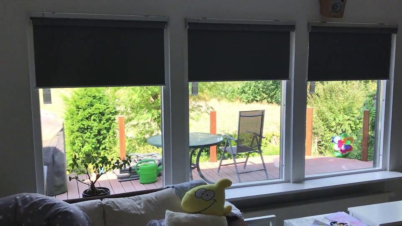 Full Size of Fenster Rollos Innen Ikea Fyrtur So Schaut Das Smarte Rollo Im Einsatz Aus Köln Sonnenschutz Fliegengitter Sicherheitsfolie Test Dampfreiniger Velux Wohnzimmer Fenster Rollos Innen Ikea
