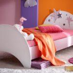 Mädchenbetten Bett Fee Mit Sternen Wei Flieder Lila Siebdruck 90x200 Cm Wohnzimmer Mädchenbetten