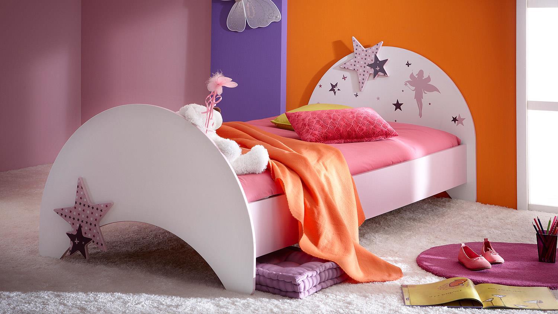 Full Size of Mädchenbetten Bett Fee Mit Sternen Wei Flieder Lila Siebdruck 90x200 Cm Wohnzimmer Mädchenbetten