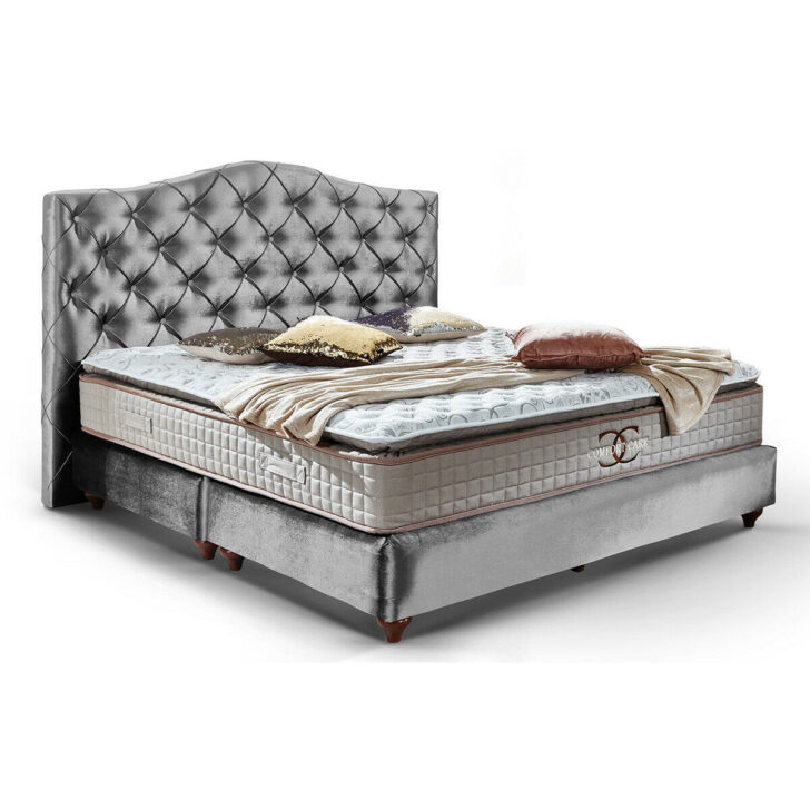 Medium Size of Boxspringbett Beige Samt Tolle Betten In Vielen Farben Und Modellen Online Kaufen Schlafzimmer Set Mit Sofa Wohnzimmer Boxspringbett Beige Samt