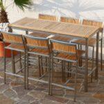Bartisch Set Bar Edelstahl Teak Bistrotisch 160x60cm Mit 6x Dusche Komplett Esstisch Günstig Küche Ligne Roset Sofa Schlafzimmer Weiß Lounge Garten Matratze Wohnzimmer Bartisch Set