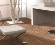 Küche Betonoptik Holzboden