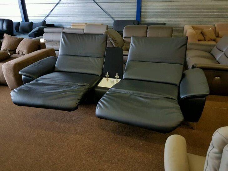 Medium Size of Relaxsofa Elektrisch Neu Exklusive Trapezsofa In Longlife Leder Schwarz Mit 2 Sofa Relaxfunktion Elektrischer Sitztiefenverstellung Elektrische Wohnzimmer Relaxsofa Elektrisch