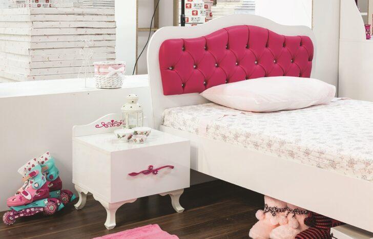 Medium Size of Mdchenbett Pia 100x200 Cm Und Nachtkonsole In Weiss Pink 21204 06 Wohnzimmer Mädchenbetten