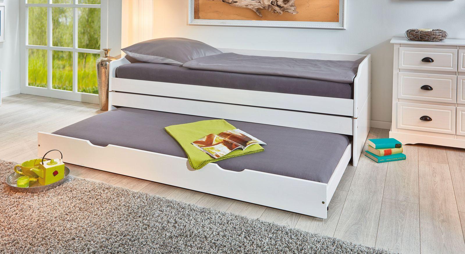 Full Size of Ausziehbares Doppelbett Ikea Ausziehbare Doppelbettcouch Funktionsbett Aus Massiver Kiefer Mit Drei Schlafpltzen 3 In 1 Bett Wohnzimmer Ausziehbares Doppelbett