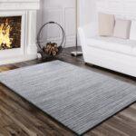 Teppich Wohnzimmer Modern Gestreift Grau Teppichcenter24 Vorhänge Led Lampen Tapeten Ideen Wandbilder Tapete Esstisch Beleuchtung Decken Vorhang Badezimmer Wohnzimmer Teppich Wohnzimmer Modern