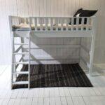 Roomstar Multifunktions Hochbett 160cm Halbhohes Bett Wohnzimmer Halbhohes Hochbett