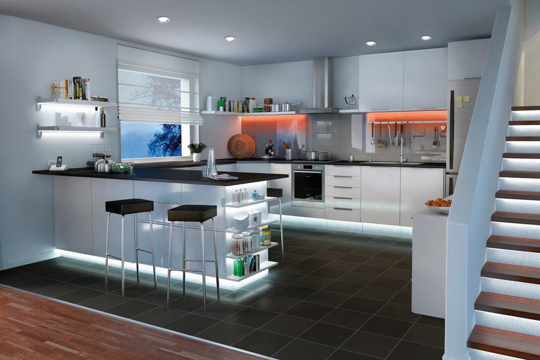 Large Size of Led Panel Küche Kchenbeleuchtung Funktional Und Stimmungsvoll Paulmann Licht Schnittschutzhandschuhe Billig Mit Geräten Was Kostet Eine Neue Miniküche Wohnzimmer Led Panel Deckenleuchte Küche
