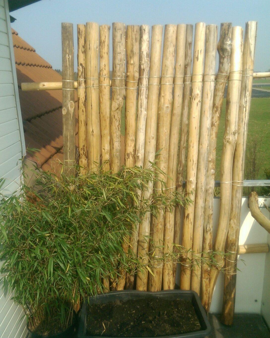 Large Size of Paravent Bambus Balkon Obi Selbstgemacht Kreativer Windschutz Garten Bett Wohnzimmer Paravent Bambus Balkon
