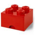 Aufbewahrungsbehälter Lego Bausteinbomit Schublade 4 Noppen Farbe Rot Küche Wohnzimmer Aufbewahrungsbehälter
