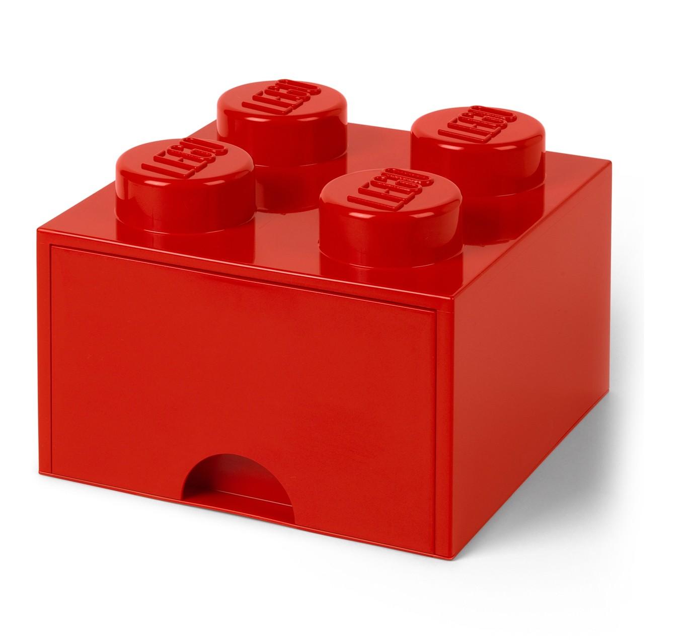 Full Size of Aufbewahrungsbehälter Lego Bausteinbomit Schublade 4 Noppen Farbe Rot Küche Wohnzimmer Aufbewahrungsbehälter