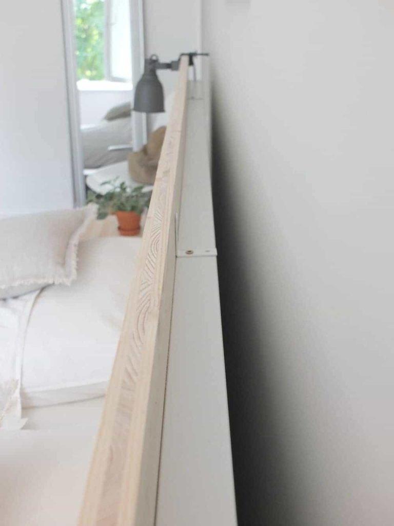 Full Size of Bett Rückwand Holz Wohngoldstck Ikea Hack Eine Neue Rckwand Fr Das Malm Kopfteil Betten Mit Bettkasten Sitzbank 90x200 Lattenrost Team 7 Schubladen 160x200 Wohnzimmer Bett Rückwand Holz