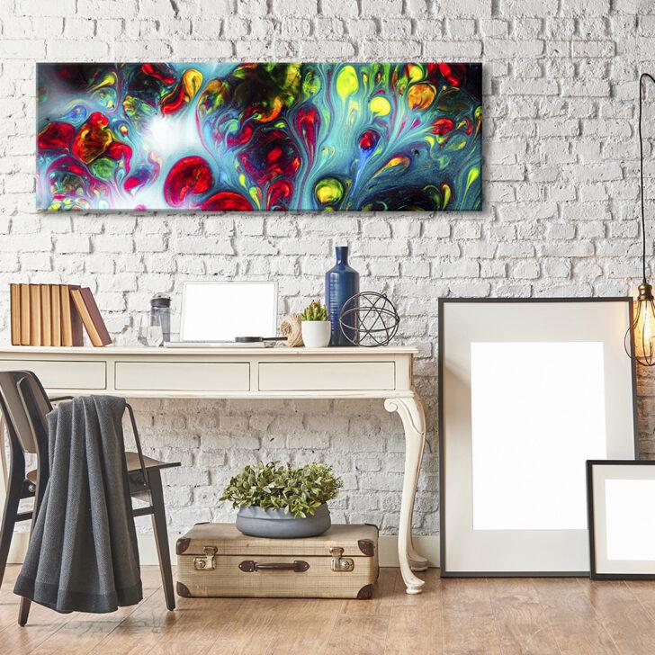 Medium Size of Wohnzimmer Wandbild Druck Leinwand Bilder Abstrakt Design Xxl Pendelleuchte Schrank Deckenleuchten Liege Gardinen Für Led Deckenleuchte Wandtattoo Wohnzimmer Wohnzimmer Wandbild