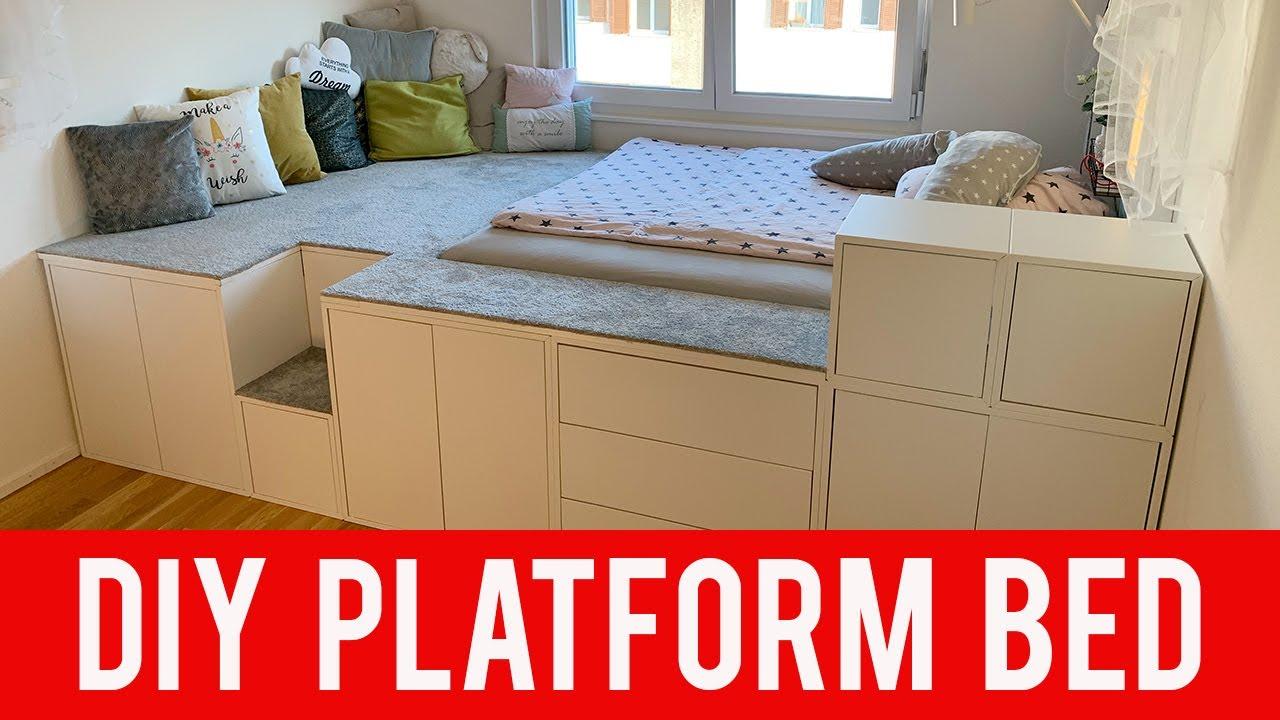 Full Size of Podestbett Ikea Diy Hack Platform Bed Youtube Modulküche Sofa Mit Schlaffunktion Betten Bei Küche Kosten 160x200 Miniküche Kaufen Wohnzimmer Podestbett Ikea