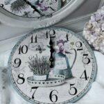 Wanduhr Lavendel Shabby Brocante Landhaus Clayre Eef Küche Beistelltisch Alno Weiß Hochglanz Einbauküche Günstig Auf Raten Tapete Regal Landhausstil Wohnzimmer Wanduhr Küche Landhaus
