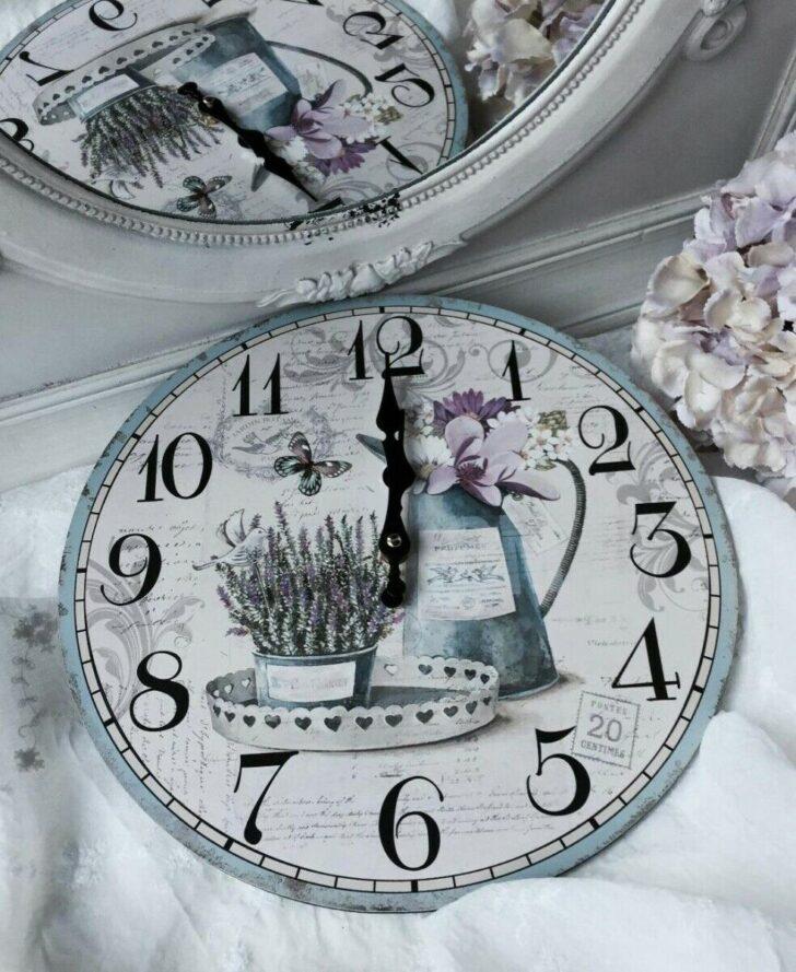 Medium Size of Wanduhr Lavendel Shabby Brocante Landhaus Clayre Eef Küche Beistelltisch Alno Weiß Hochglanz Einbauküche Günstig Auf Raten Tapete Regal Landhausstil Wohnzimmer Wanduhr Küche Landhaus