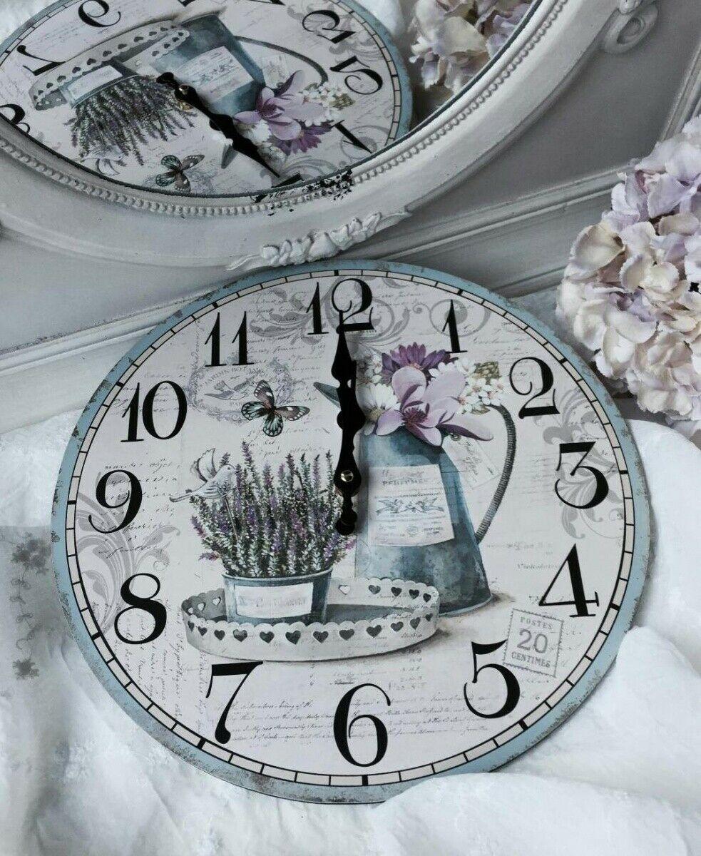 Full Size of Wanduhr Lavendel Shabby Brocante Landhaus Clayre Eef Küche Beistelltisch Alno Weiß Hochglanz Einbauküche Günstig Auf Raten Tapete Regal Landhausstil Wohnzimmer Wanduhr Küche Landhaus