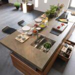 Hängeregal Kücheninsel K7 Hhenverstellbare Kochinsel Team 7 Team7de Küche Wohnzimmer Hängeregal Kücheninsel