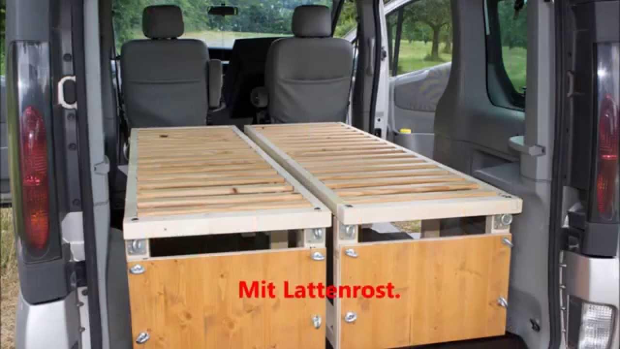 Full Size of Ausziehbett Camper Renault Trafic Mit Bett Youtube Wohnzimmer Ausziehbett Camper