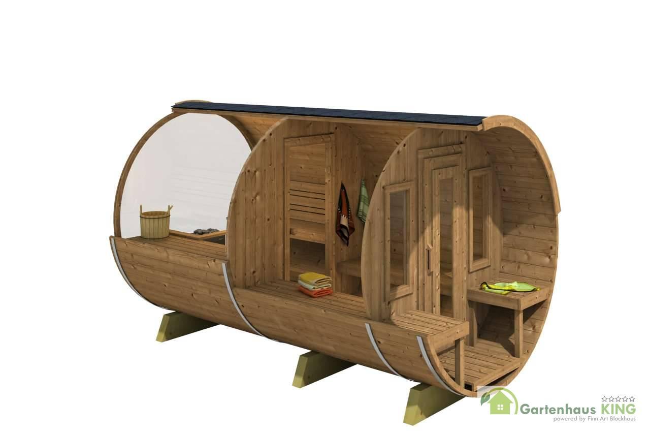 Full Size of Gartensauna Bausatz Fasssauna Deluxe 400 Thermoholz Saunafder Oberklasse Wohnzimmer Gartensauna Bausatz