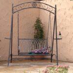 Gartenschaukel Metall Landhaus Eisen Schmiedeeisen Hollywood Garten Schaukel Romantico Bett Regal Weiß Regale Wohnzimmer Gartenschaukel Metall