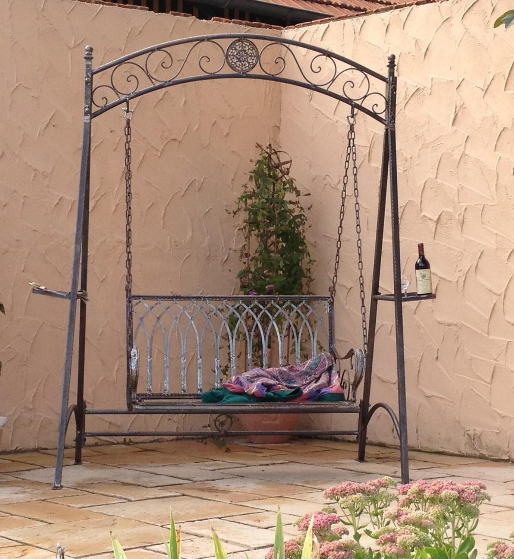 Full Size of Gartenschaukel Metall Landhaus Eisen Schmiedeeisen Hollywood Garten Schaukel Romantico Bett Regal Weiß Regale Wohnzimmer Gartenschaukel Metall