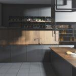 Graue Kchen Kchendesignmagazin Lassen Sie Sich Inspirieren Küche Hochglanz Klapptisch Blende Led Deckenleuchte Eckküche Mit Elektrogeräten Möbelgriffe Wohnzimmer Küche Grauer Boden
