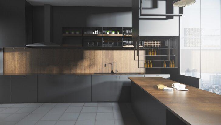 Medium Size of Graue Kchen Kchendesignmagazin Lassen Sie Sich Inspirieren Küche Hochglanz Klapptisch Blende Led Deckenleuchte Eckküche Mit Elektrogeräten Möbelgriffe Wohnzimmer Küche Grauer Boden