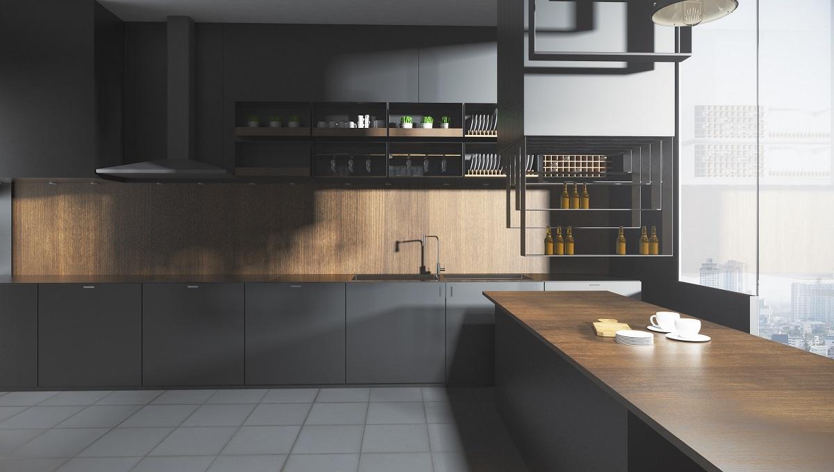 Full Size of Graue Kchen Kchendesignmagazin Lassen Sie Sich Inspirieren Küche Hochglanz Klapptisch Blende Led Deckenleuchte Eckküche Mit Elektrogeräten Möbelgriffe Wohnzimmer Küche Grauer Boden