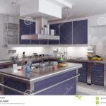 Küche Blau Elegante Blaue Kche Stock Abbildung Illustration Von Messer Apothekerschrank Outdoor Schnittschutzhandschuhe Tresen Betonoptik Holz Industrial Wohnzimmer Küche Blau