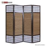 Paravent Bambus Raumteiler Spanische Trennwand Sichtschutz 175 Garten Bett Wohnzimmer Paravent Bambus