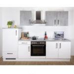 Kchenblock Wei Hochglanz Betonoptik 270 Cm Online Bei Roller Regale Küchen Regal Wohnzimmer Küchen Roller