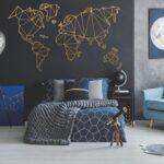 Deko Schlafzimmer Wand Wohnzimmer Deko Groe Gre Geometrische Welt Vinyl Kronleuchter Dusche Küche Komplett Günstige Kommoden Für Sprüche Kommode Weiß Komplettes Bett Vorhänge Wohnzimmer