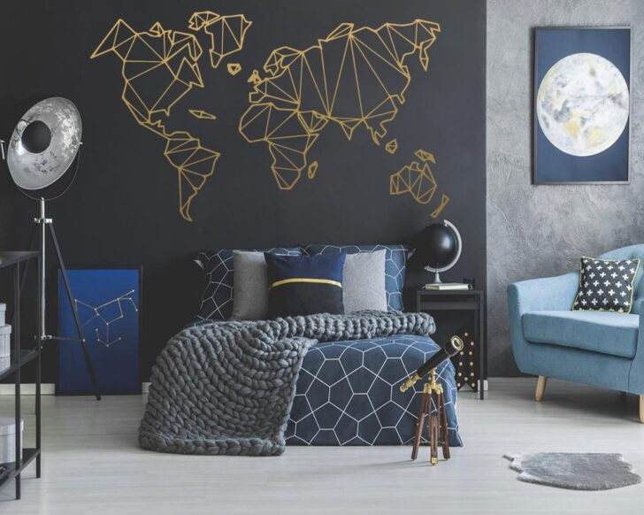 Medium Size of Deko Groe Gre Geometrische Welt Vinyl Kronleuchter Dusche Küche Komplett Günstige Kommoden Für Sprüche Kommode Weiß Komplettes Bett Vorhänge Wohnzimmer Wohnzimmer Deko Schlafzimmer Wand