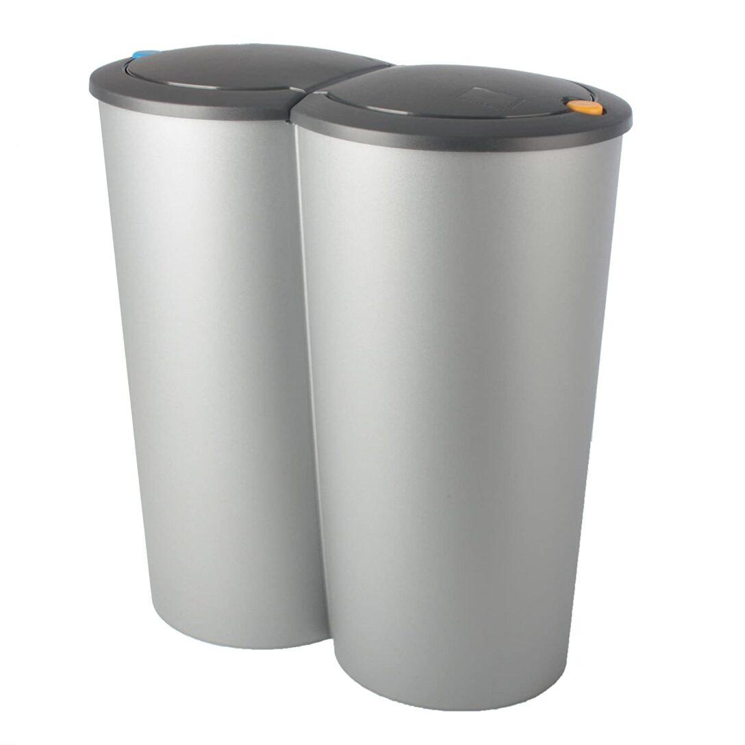 Large Size of Doppel Mülleimer Abfalleimer Duo Bin 2x25l Mlleimer Doppeleimer Mlltrennung Küche Doppelblock Einbau Wohnzimmer Doppel Mülleimer