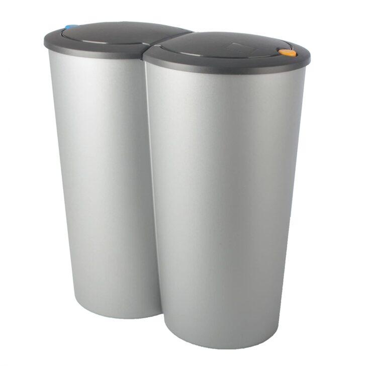 Medium Size of Doppel Mülleimer Abfalleimer Duo Bin 2x25l Mlleimer Doppeleimer Mlltrennung Küche Doppelblock Einbau Wohnzimmer Doppel Mülleimer