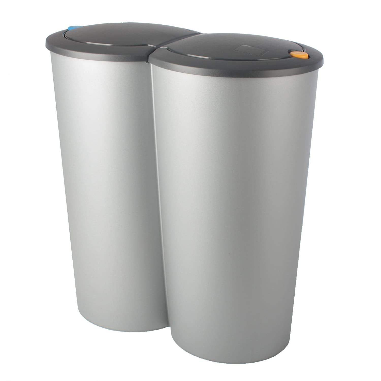 Full Size of Doppel Mülleimer Abfalleimer Duo Bin 2x25l Mlleimer Doppeleimer Mlltrennung Küche Doppelblock Einbau Wohnzimmer Doppel Mülleimer