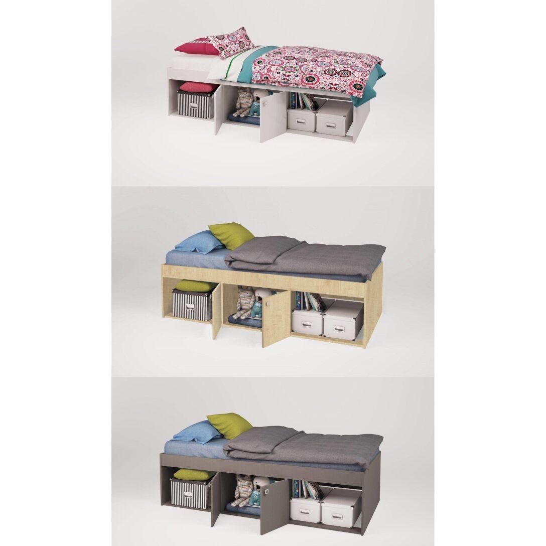 Large Size of Kinderbett Stauraum Polini Kids Jugendbett Simple Mit Farbauswahl Bett 160x200 Betten 140x200 200x200 Wohnzimmer Kinderbett Stauraum
