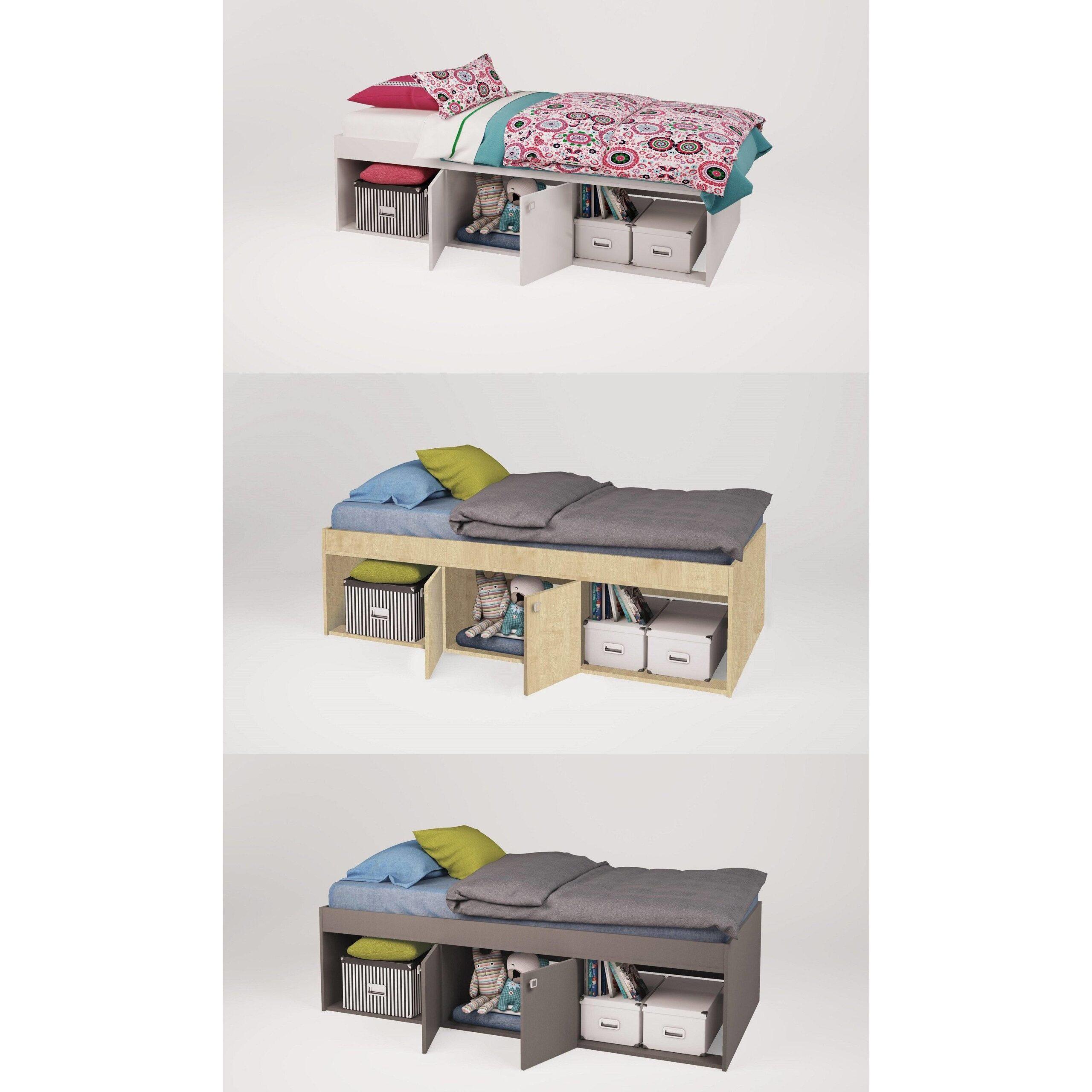 Full Size of Kinderbett Stauraum Polini Kids Jugendbett Simple Mit Farbauswahl Bett 160x200 Betten 140x200 200x200 Wohnzimmer Kinderbett Stauraum