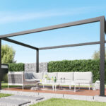 Terrassen Pavillon Wohnzimmer Terrassen Pavillon Alu Lamellendach Fr Solidcube Pergola Solidus Garten